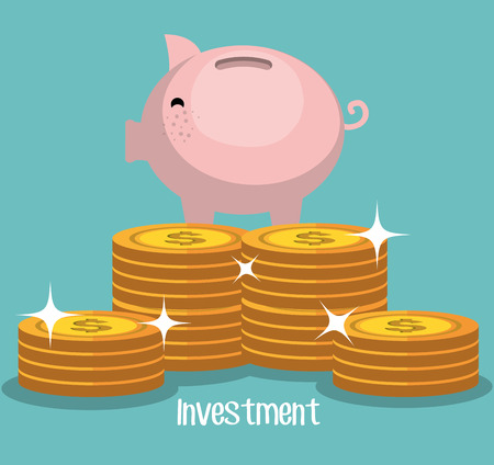grow money: Business and money investment graphic design, vector illustration