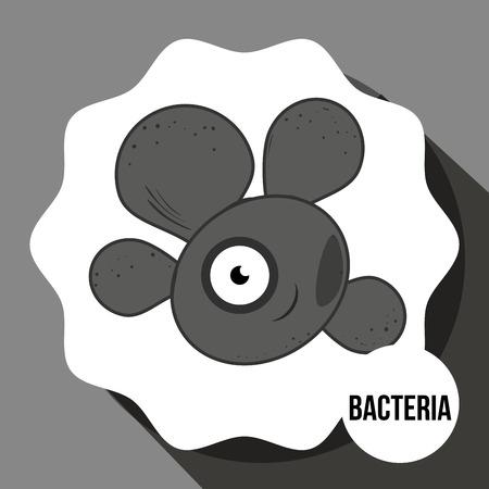 bacteria cartoon: Germs and bacteria cartoon graphic design, vector illustration