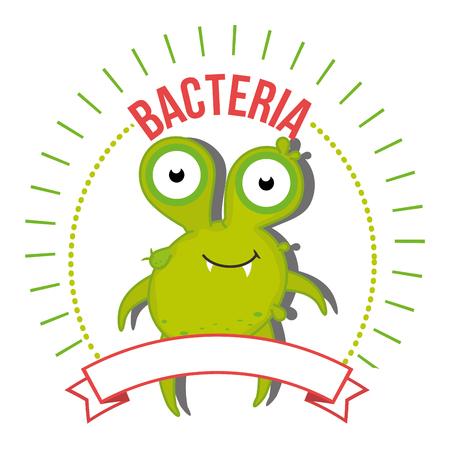 cartoon bacteria: Germs and bacteria cartoon graphic design, vector illustration