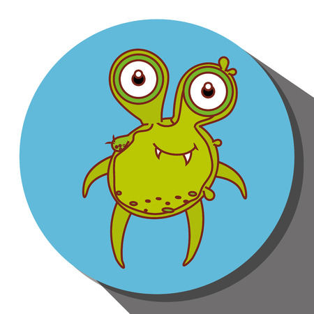 bacteria cartoon: Germs and bacteria cartoon graphic design, vector illustration