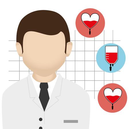 medics: Blood donation campaign graphic design, vector illustration