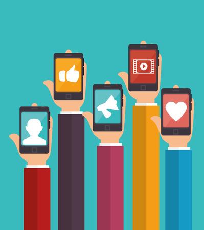 design media love: social media design, vector illustration eps10 graphic