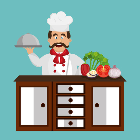 food tray: catering service design, vector illustration eps10 graphic