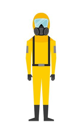 protective suit: industrial security design, vector illustration eps10 graphic
