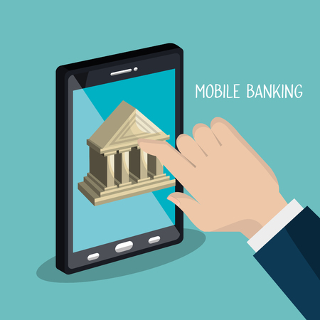 electronic banking: mobile banking design, vector illustration eps10 graphic