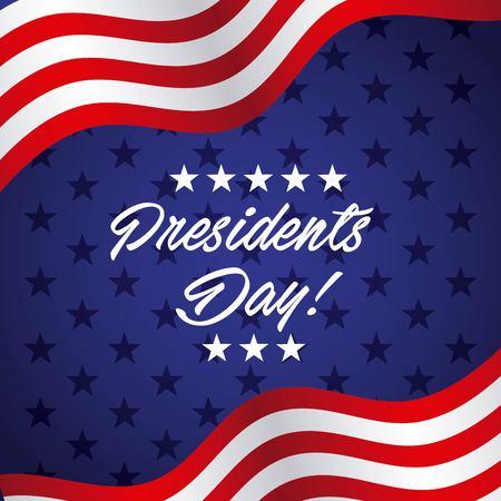 projekt dnia prezydentów, grafika wektorowa ilustracja eps10 Ilustracje wektorowe