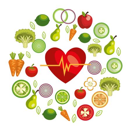 gezonde voeding ontwerp, vectorillustratie eps10 grafische