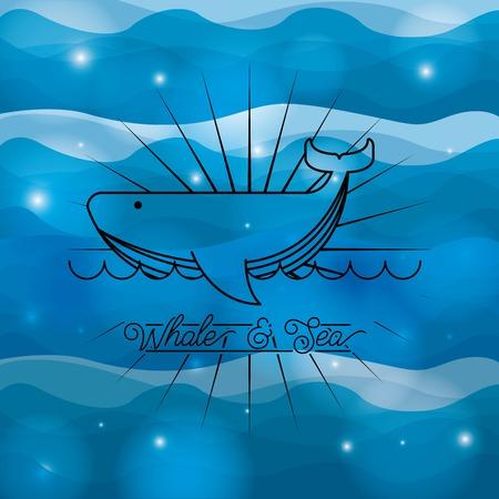 sea concept design, vector illustration eps10 graphic