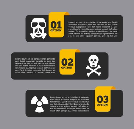 nuclear safety: industrial security design, vector illustration eps10 graphic