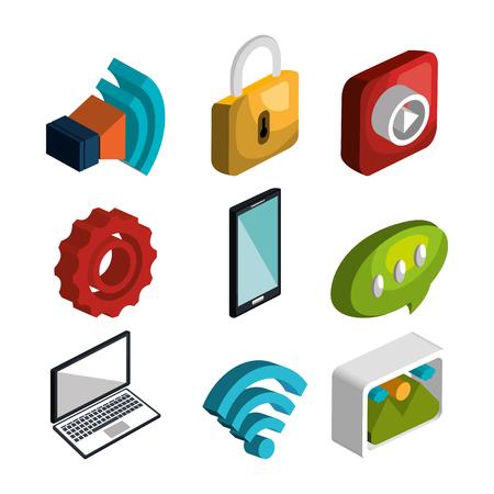 safe and sound: modern technology design, vector illustration eps10 graphic Illustration