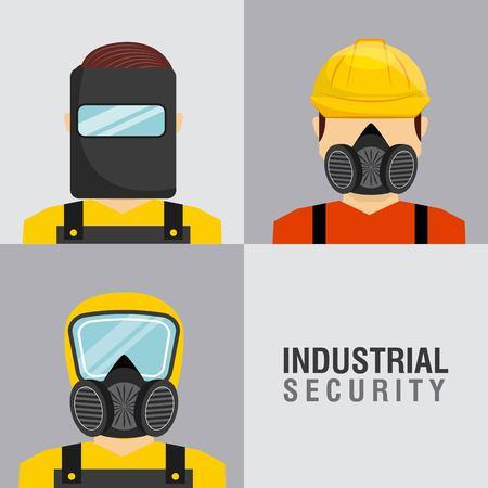 seguridad industrial: diseño de la seguridad industrial, ejemplo gráfico del vector eps10 Vectores