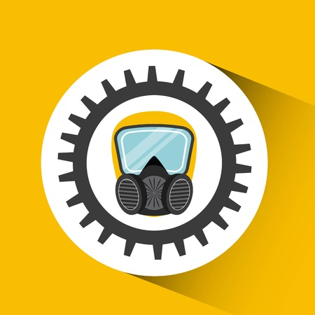 wear mask: industrial security design, vector illustration eps10 graphic