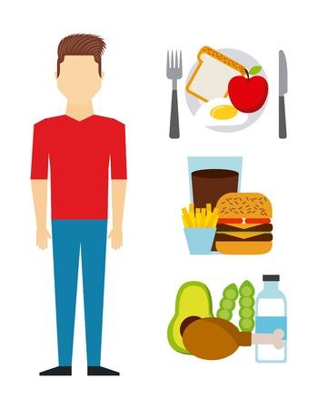 sandwish: healthy food design, vector illustration eps10 graphic