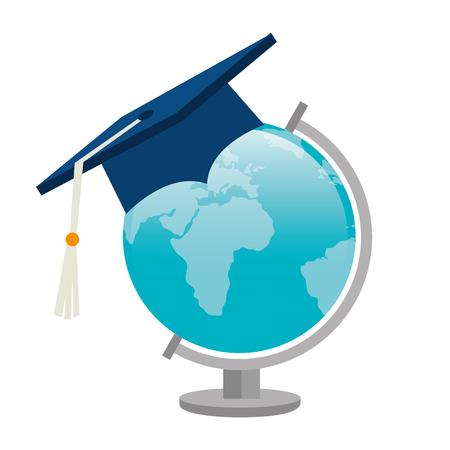 la conception de l'excellence académique, illustration graphique eps10