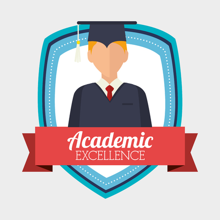 academic excellence design, vector illustration eps10 graphic Illustration