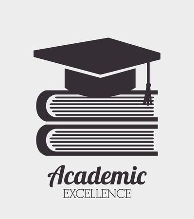 diseño de la excelencia académica, ejemplo gráfico del vector eps10