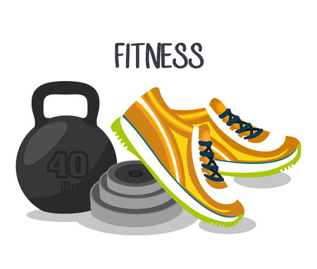 training shoes: sports fitness design, vector illustration eps10 graphic