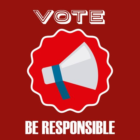 be alert: elections day design, vector illustration eps10 graphic