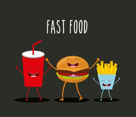 fry: food character design, vector illustration eps10 graphic