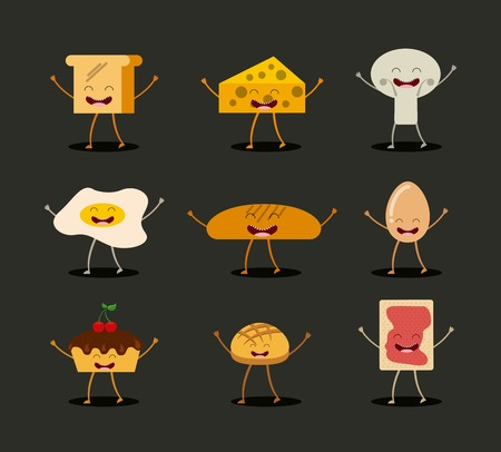 cheese cartoon: food character design, vector illustration eps10 graphic