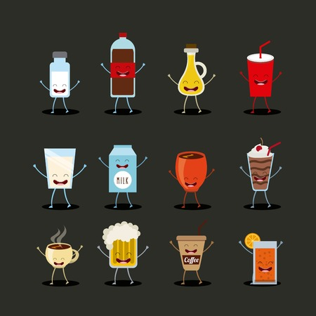 bootle: food character design, vector illustration eps10 graphic