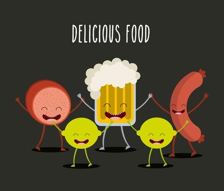 food character design, vector illustration eps10 graphic Vector Illustration