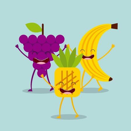 Diseño de personajes comida, ejemplo gráfico del vector eps10 Foto de archivo - 51890054