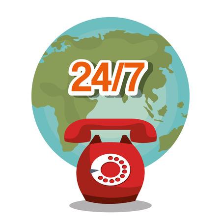 telemarketer: call center service design, vector illustration eps10 graphic Illustration