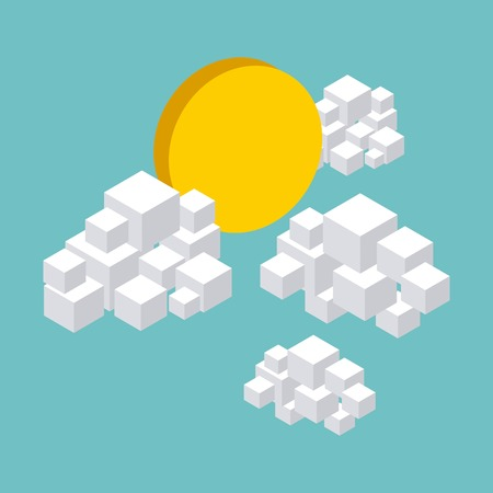cloud computer: nature in pixels design, vector illustration eps10 graphic