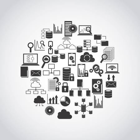 data management: big data design, vector illustration eps10 graphic