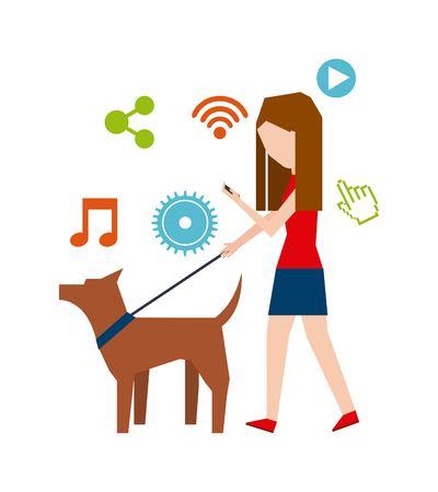 smartphone addiction: smartphone addiction design, vector illustration eps10 graphic