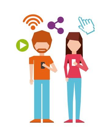smartphone addiction: smartphone addiction design, vector illustration   graphic Illustration