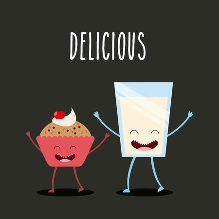 personages: character food design, vector illustration eps10 graphic Illustration