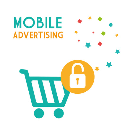 mobile advertising: mobile advertising design, vector illustration eps10 graphic