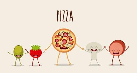 diseño de la comida carácter, ejemplo gráfico del vector eps10