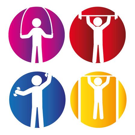 hang body: fitness gym design, vector illustration eps10 graphic