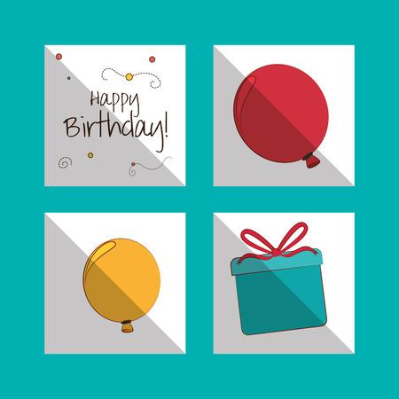 paper banner: happy birthday design