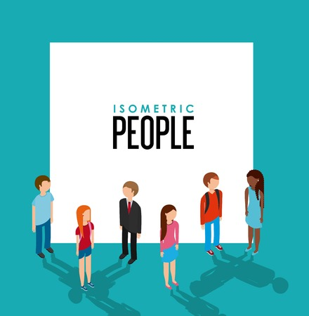 office wear: isometric people design, vector illustration eps10 graphic