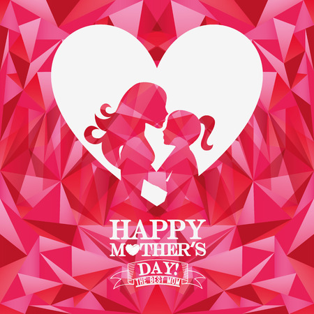 happy mothers day design, vector illustration eps10 graphic 矢量图像