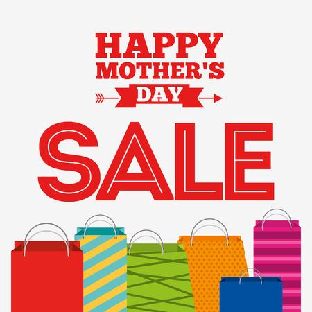 conception de la vente de jour de mères, illustration graphique eps10