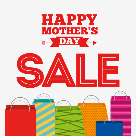 commercial sign: mothers day sale design, vector illustration eps10 graphic