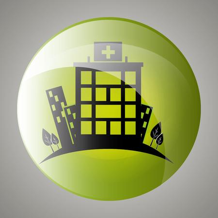 trees services: hospital medical center design, vector illustration eps10 graphic Illustration