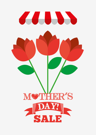 best ad: mothers day sale design, vector illustration eps10 graphic