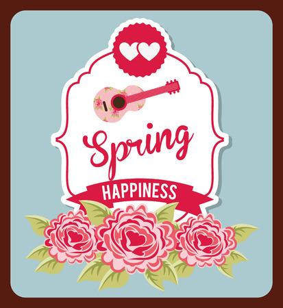 hello heart: hello spring design, vector illustration eps10 graphic Illustration