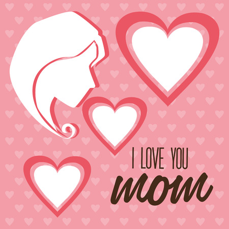 silouette: happy mothers day design, vector illustration eps10 graphic Illustration