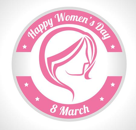 glücklich Frauen Tag Design, Vector Illustration eps10 Grafik