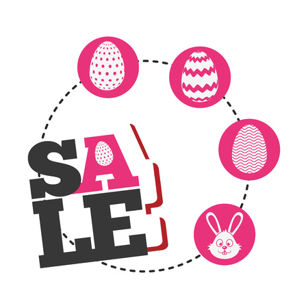 easter sale design, vector illustration eps10 graphic