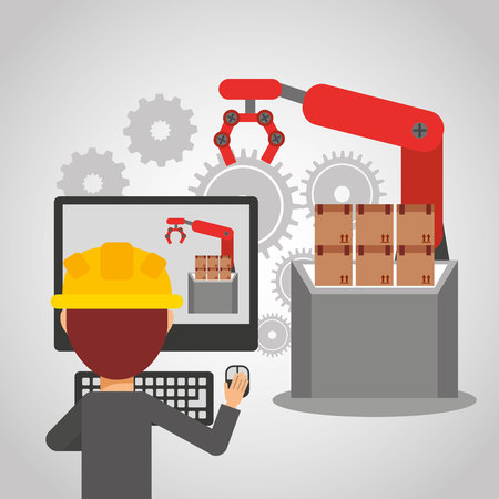 illustration industry: manufacturing industry design, vector illustration eps10 graphic Illustration