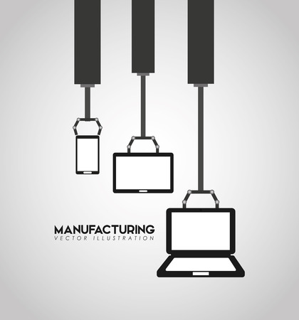 controlling: manufacturing industry design, vector illustration eps10 graphic Illustration