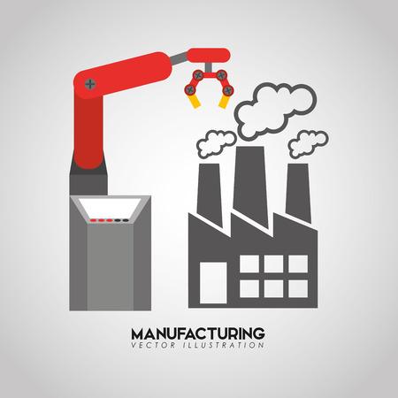 hand work: manufacturing industry design, vector illustration eps10 graphic Illustration